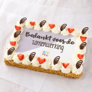 Bedankt taart met logo