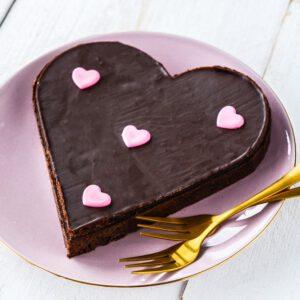 Hartvormige brownie