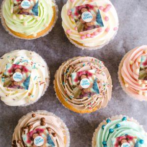 Cupcakes met eigen foto